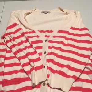Woman's button- up 3/4 sweater